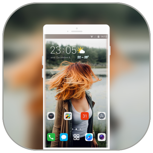 Theme for nokia5.1 plus woman alone wallpaper icon