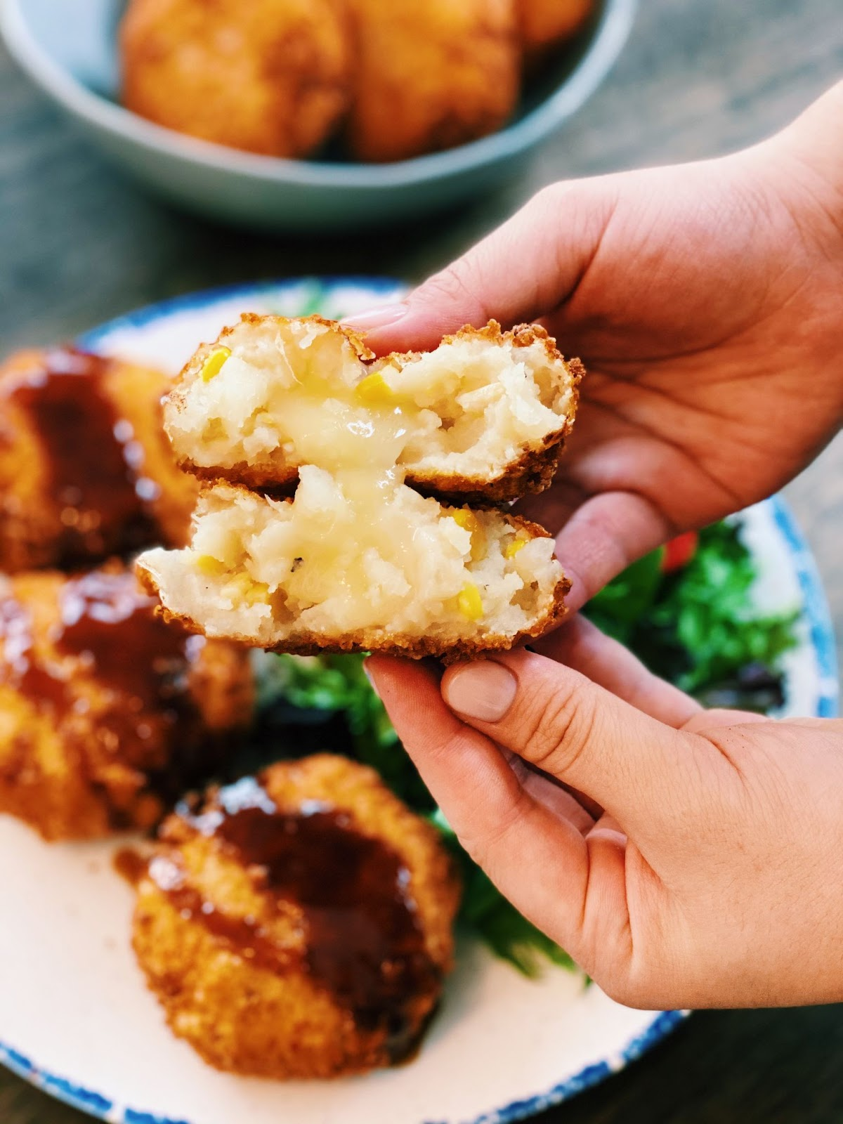 Cheesy Japanese Potato Croquette - Korokke