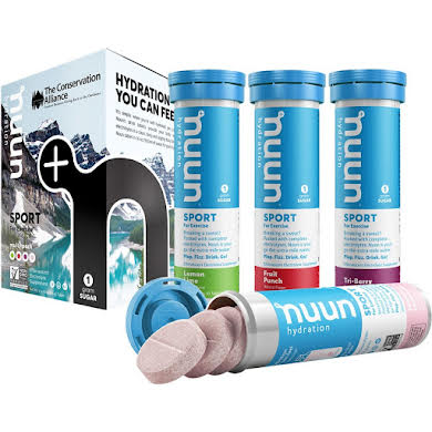 Nuun Sport Hydration Tablets: Mixed Conservation Alliance, Box of 4 Tubes