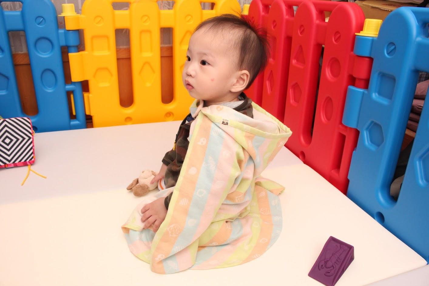 喜福HiBOU日本雙層棉紗Lite小斗篷連帽浴巾|快乾吸水新生兒浴巾推薦|台灣製造好品質