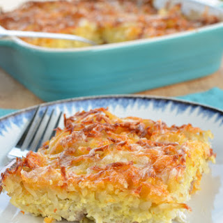 Cheesy Sausage and Egg Hash Brown Casserole