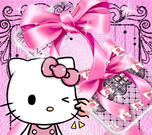 Pink Kitty Silken Bowknot Theme 1.1.1 screenshots 9