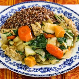 Tempeh Teriyaki with Cool-Season Vegetables