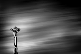 Photo: Needle In The Sky  The view from +Nicole S. Young's roof is spectacular. Just a couple blocks away stands the Space Needle in all its glory. This past Saturday I got to sit up there with Nicole,+Arno Jenkinsand +Jacob Lucasto watch the clouds and just chat about life and photography while occasionally grabbing a pic of the famous structure. In this shot I cheated a bit by comping in clouds from another shot to add a little more drama to the scene that never was.  #seattle #spaceneedle