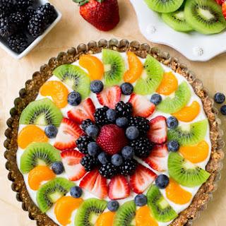 Greek Yogurt Fruit Tart.