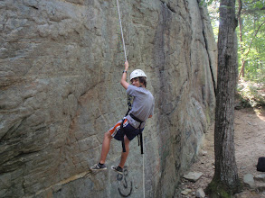 Photo: Summer campers in our climbing program enjoy off-property trips to nearby Currahee Mountain.