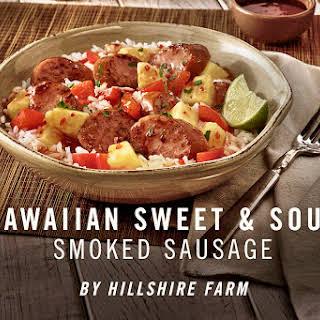 Hawaiian Pineapple Sweet & Sour Smoked Sausage.