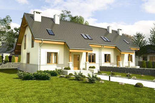 projekt Gajówka bez garażu bliźniak B-BL1