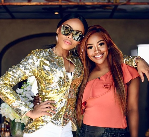 Bonang Matheba and Lorna Maseko are friendship goals.