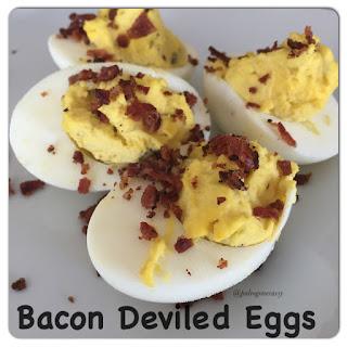 Bacon Deviled Eggs.
