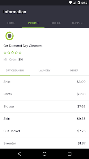 On Demand Dry Cleaners