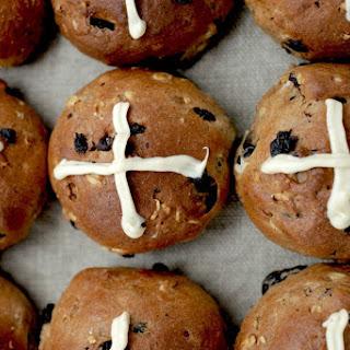 Teresa Cutter's healthy hot cross buns.