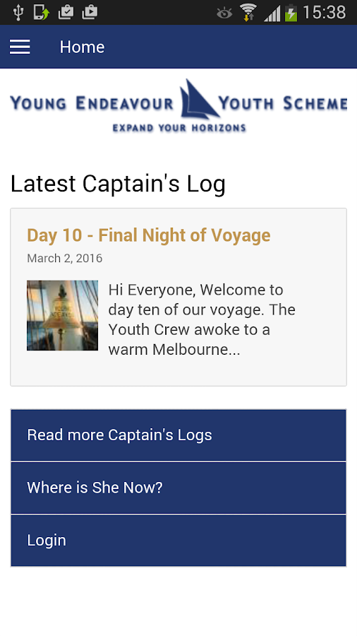YEYS Captain's Log- screenshot