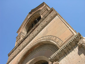 Photo: Echmaidzin Cathedral's relatively recent bell tower on the ancient building.