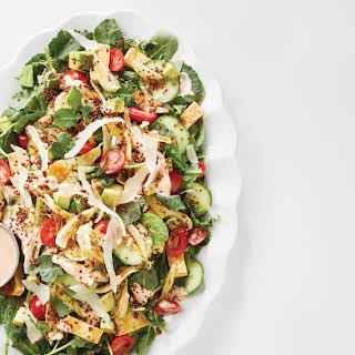 Creamy Kale & Tofu Salad with Crispy Quinoa.