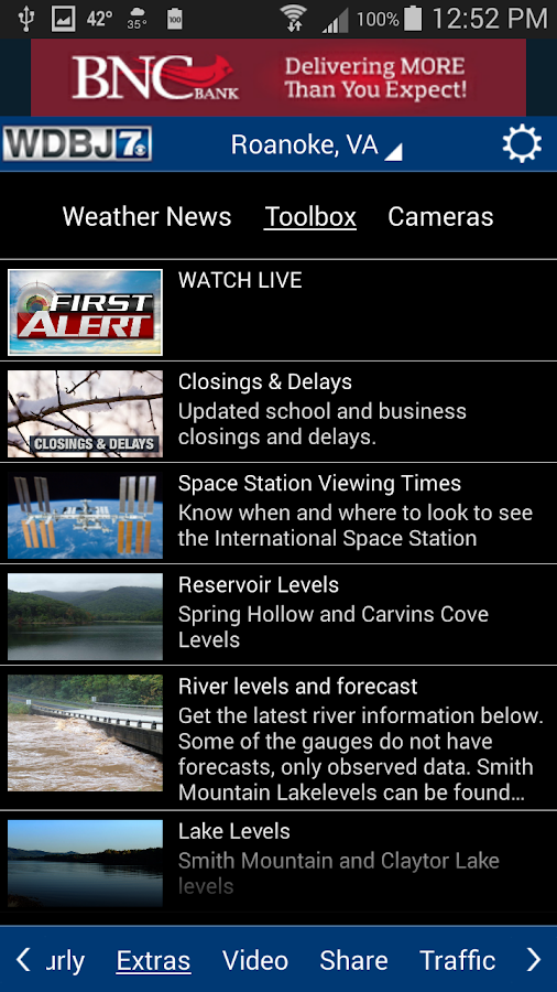 WDBJ7 Weather & Traffic- screenshot