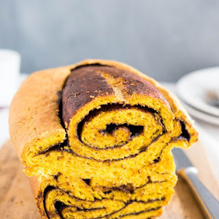 Nutella Swirl Pumpkin Bread #BreadBakers.