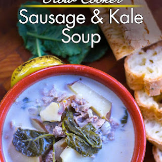 Slow Cooker Sausage and Kale Soup