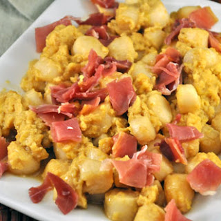 Scallops with Egg and Ham Recipe