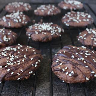 Triple Chocolate Tahini Cookies Recipe