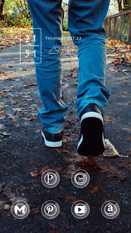 android Foot Leaves Theme Screenshot 1
