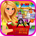 Supermarket Grocery Store Girl - Supermarket Games icon
