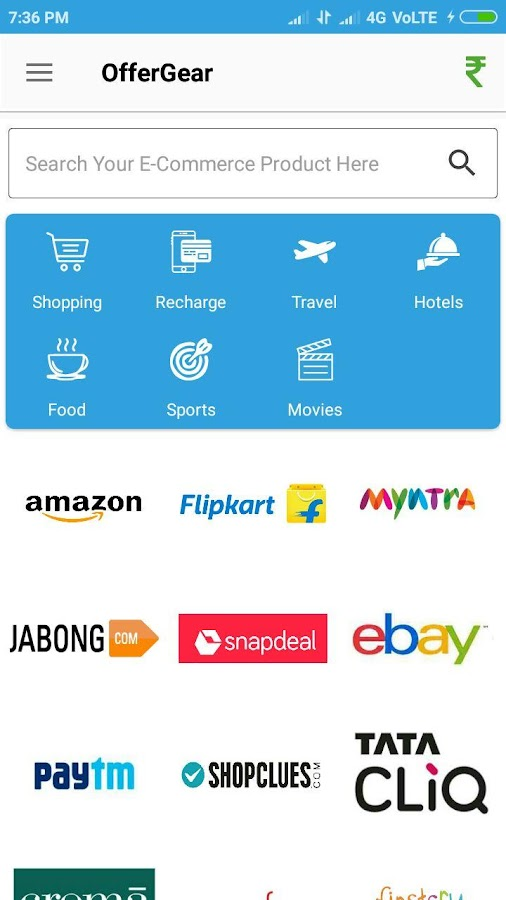 OfferGear Cashback & Shopping- screenshot