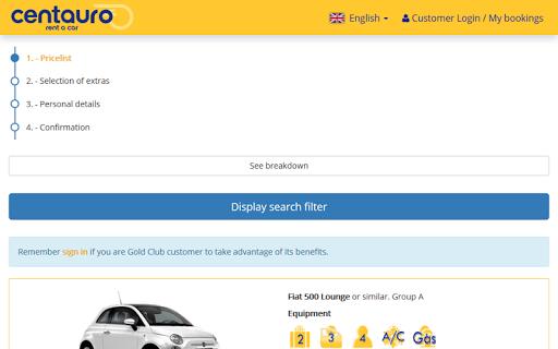 Centauro rent a car - Car hire