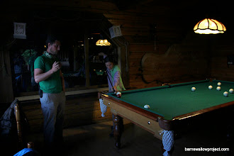 Photo: In Russian pool, you aim for the scratch balls, the pockets are tiny, and games last for hours!