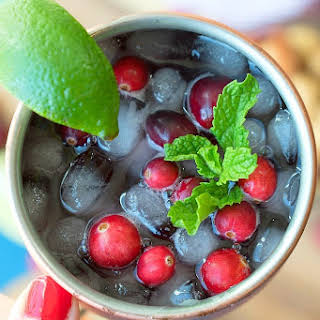 Cranberry Moscow Mule Mocktail.