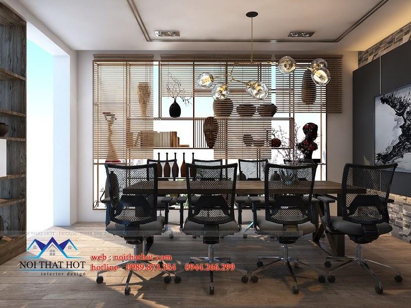 thiết kế showroom gốm sứ hiện đại