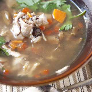 Mushroom and Chicken Soup.