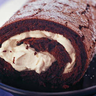 Chocolate Roulade with Coffee Cream.
