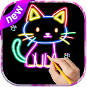Glow Draw - Kids Book Coloring