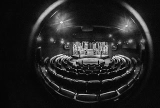 A fish eye view of our beautiful theater auditorium