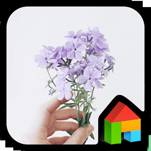 个人化のPurple flowerドドルランチャのテーマ LOGO-記事Game