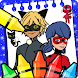 Miraculous ladybug and cat noir coloring world