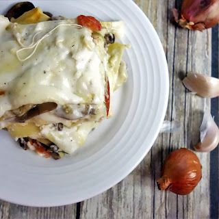 Mushroom Lasagna with Bechamel Sauce Recipe