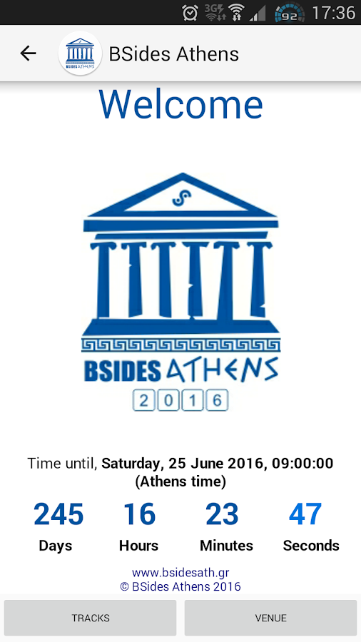 Security BSides Athens - στιγμιότυπο οθόνης