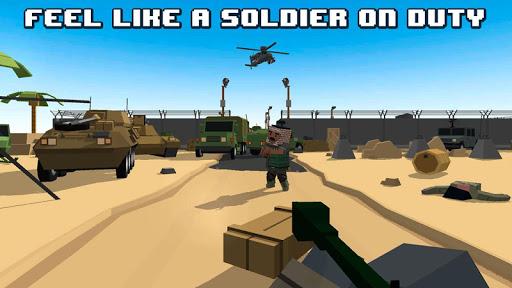 Cube War: Military Battlefield