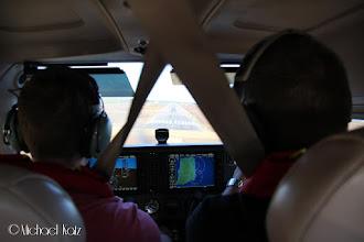 Photo: Captain Galde har full kontroll ned mot bane 11 på Bornholm Lufthavn (EKRN)