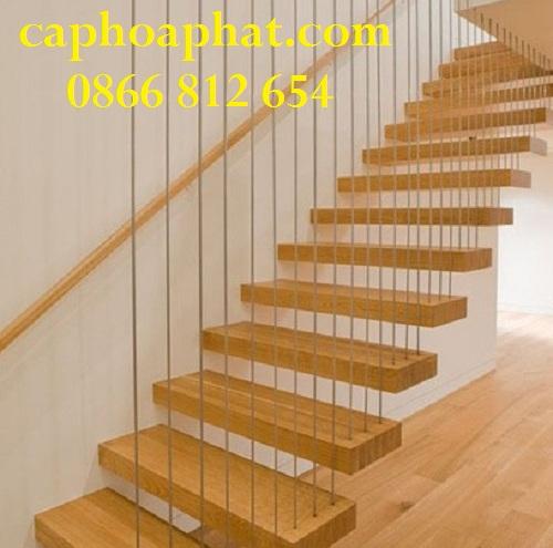 Bậc cầu thang có thể là mặt gỗ