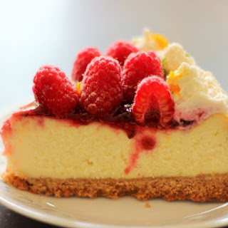 Lemon Raspberry Cheesecake.