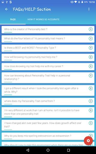 Personality Trait Test 4.22 screenshots 12