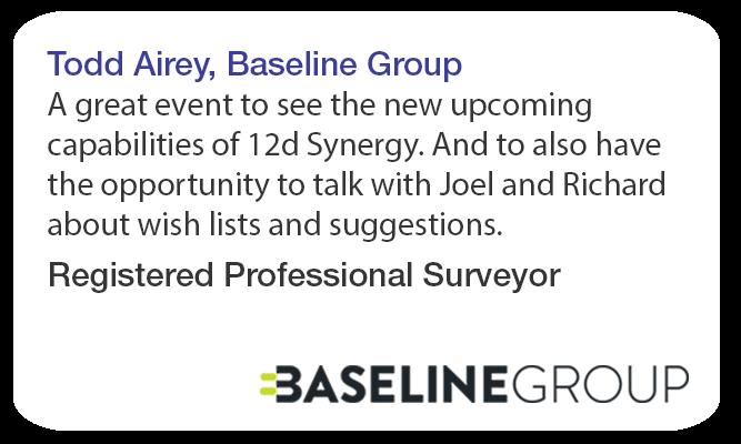 Todd Airey Baseline Group 12d Synergy Roadshow Testimonial