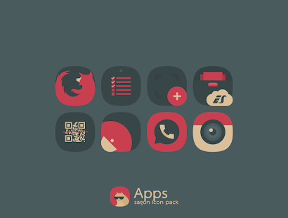 Sagon Icon Pack: Dark UI Screenshot