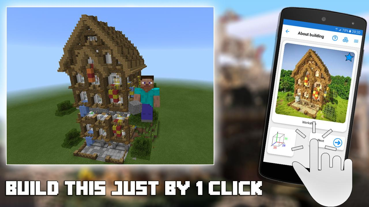 Builder for minecraft pe android apps on google play for Minecraft blueprint maker app