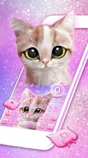 Pink Cute Cat Keyboard Téma - náhled