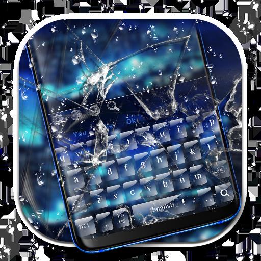 Blue Cracked Screen Keyboard