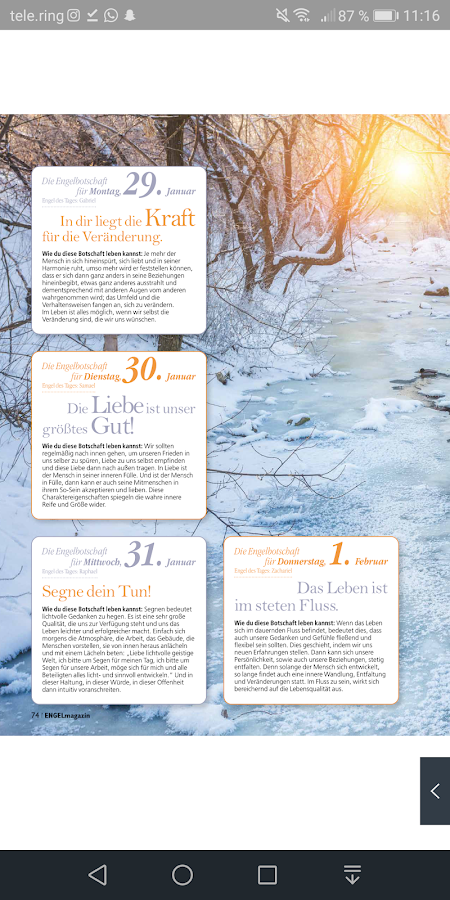 ENGELmagazin – Screenshot